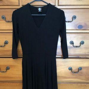 Agnes and Dora black midi dress
